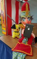 Mr Punch, Punch and Judy, puppet, puppet show, puppetry, Miraiker, Miraiker's World of Puppets, puppet maker, carved puppet, wooden puppet, Punch and Judy puppets